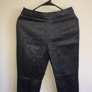 Black and Silver Forever 21 Pants